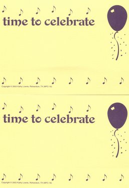CGPC18 12 Time to Celebrate Postcards 12 pack