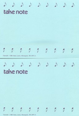 CGPC2 12 Take Note Postcards 12 pack