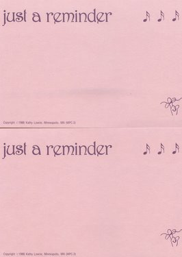 CGPC3 12 Just A Reminder Postcards 12 pack