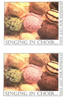 Singing In the Choir Postcard