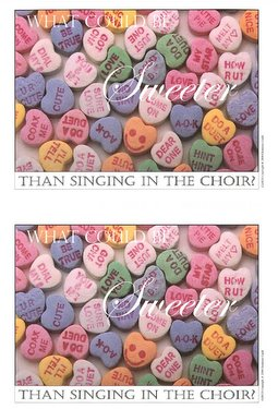 What Could Be Sweeter Than Singing in the Choir Postcard