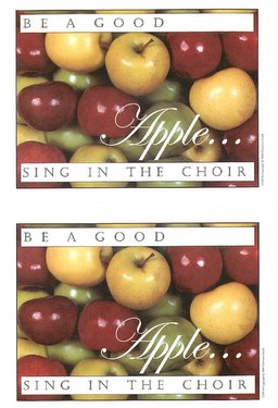 Be a Good AppleSing in the Choir Postcard