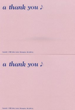 CGPC6 12 A Thank You Note Postcards 12 pack