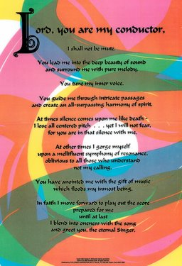 The Musician's Psalm Poster
