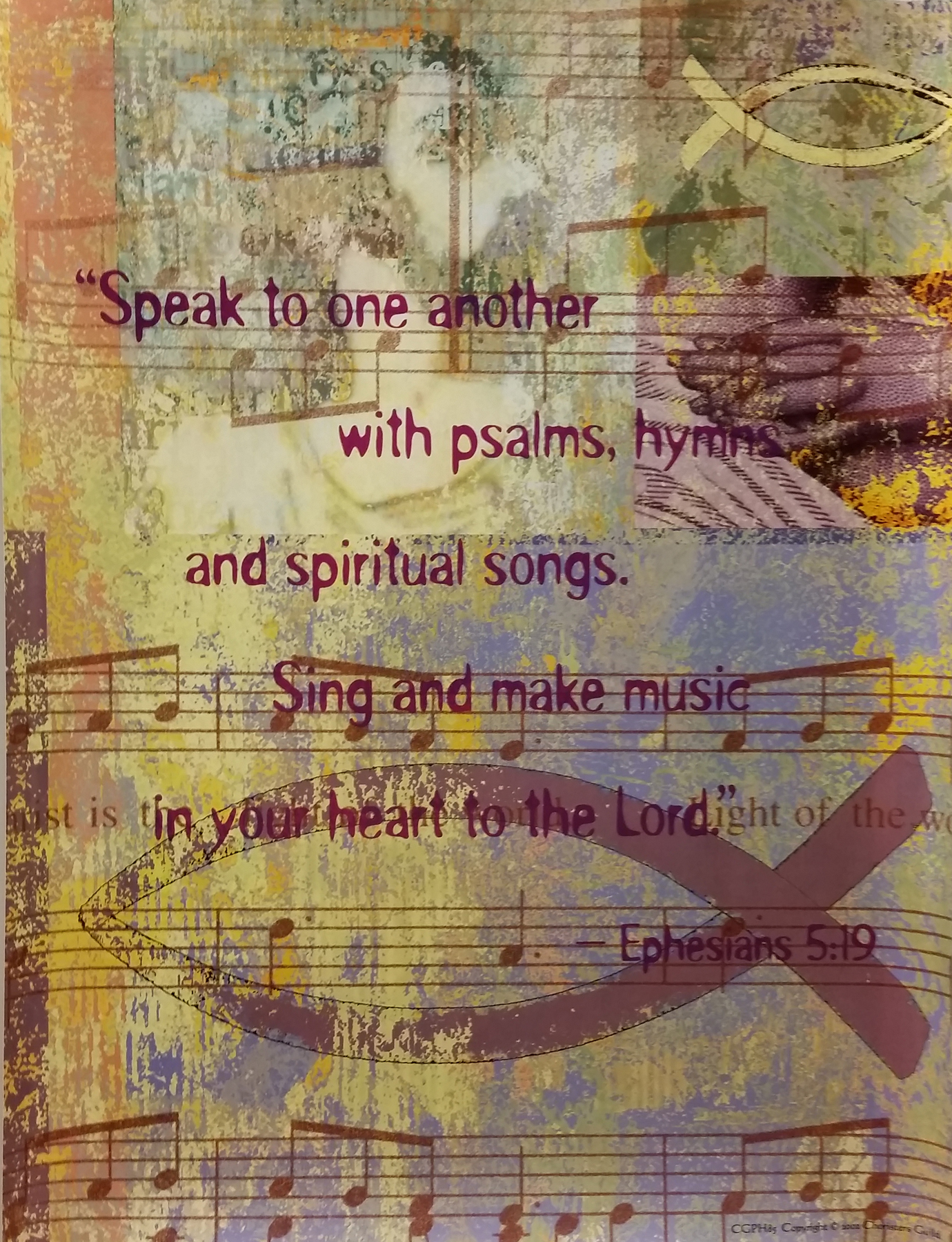 Speak to One Another With Psalms Poster