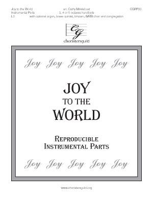 Joy to the World - Reproducible Instrumental Parts