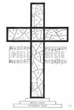 Mosaic Cross Attendance Chart
