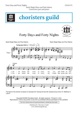 Forty Days and Forty Nights Audio Download