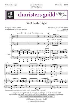 Walk in the Light SATB