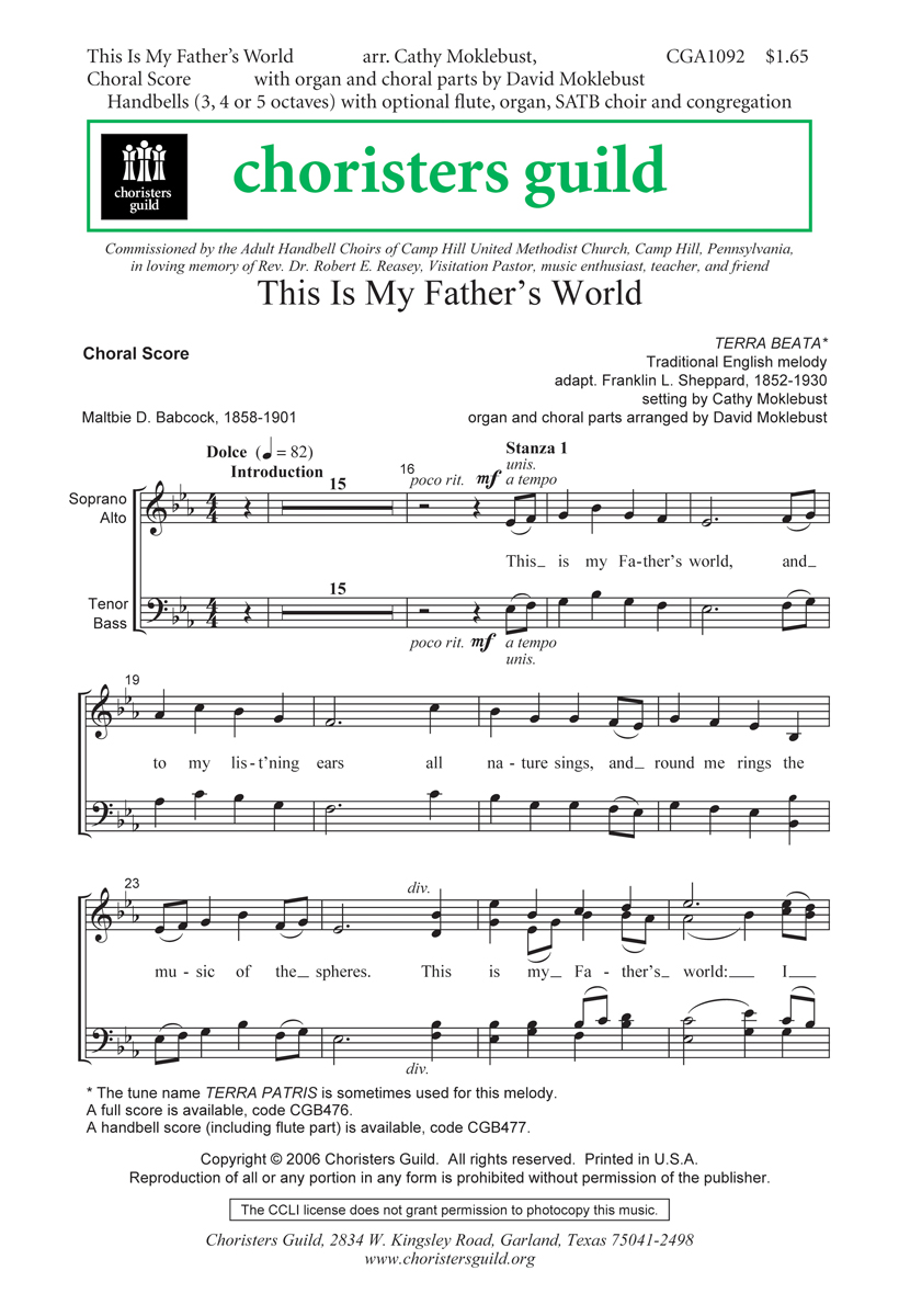 This is My Father's World (Choral Score)