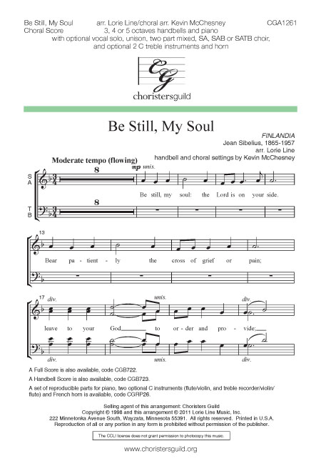 Be Still, My Soul - Choral Score