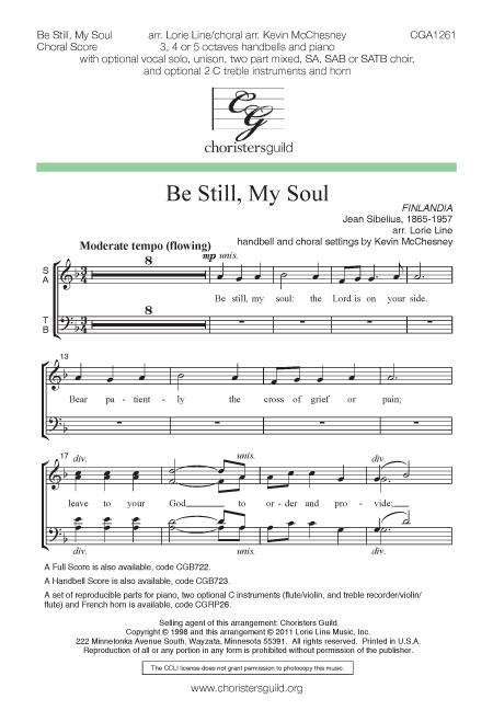 Be Still, My Soul - Choral Score