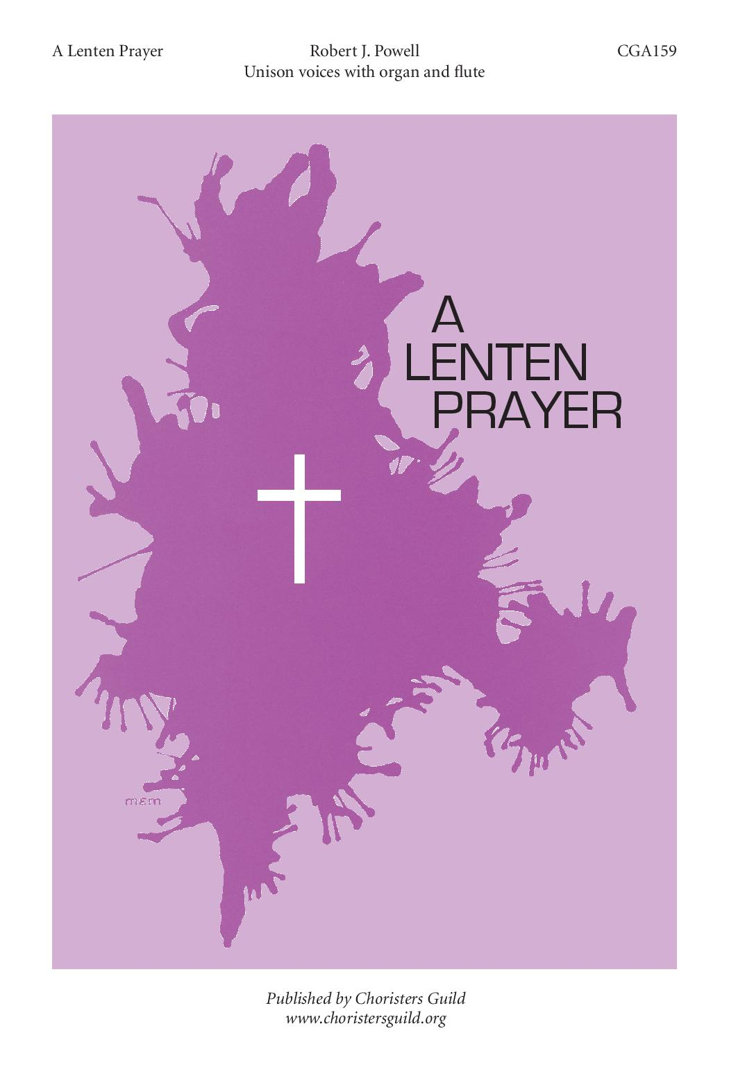 A Lenten Prayer