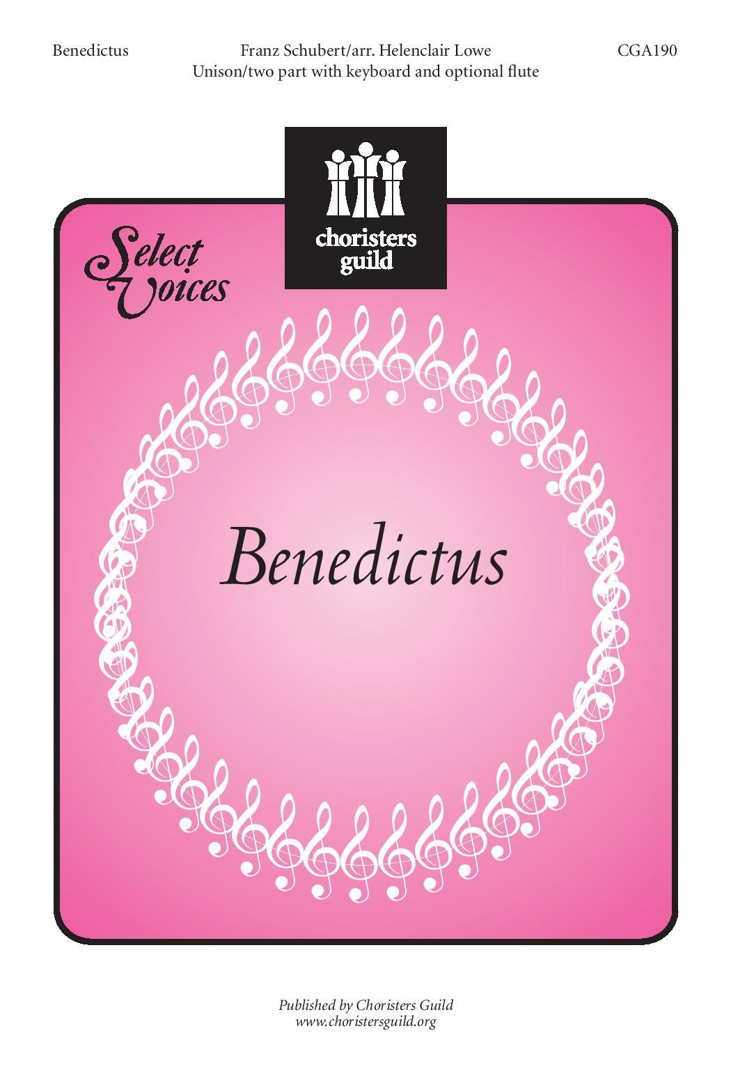 Benedictus Holy Jesus, Our Savior