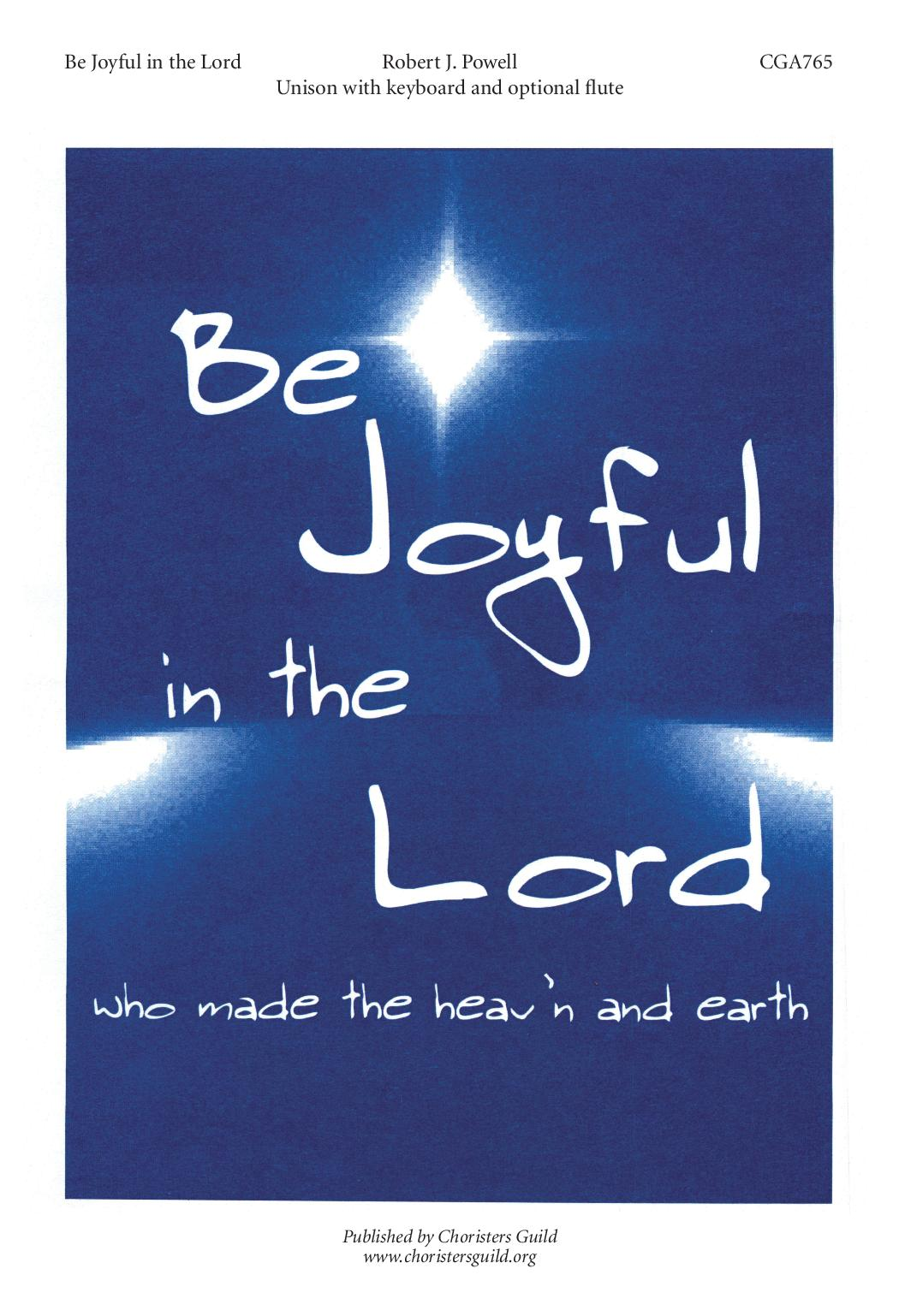Be Joyful in the Lord
