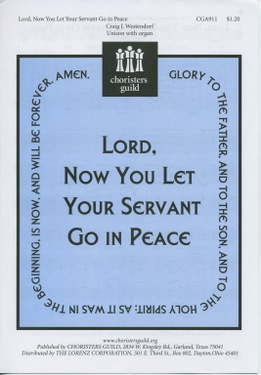 Lord, Now You Let Your Servant Go in Peace