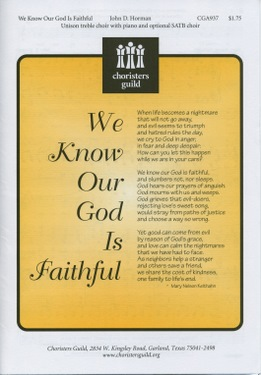 We Know Our God Is Faithful