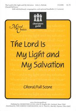 The Lord Is My Light and My Salvation ChoralFull Score