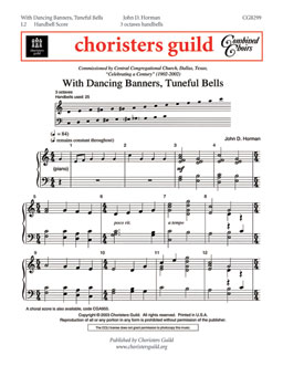 With Dancing Banners, Tuneful Bells (Handbell Score)