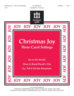 Christmas Joy: Three Carol Settings