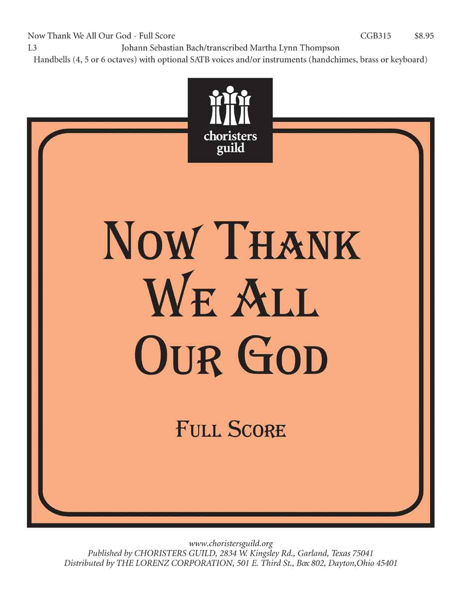 Now Thank We All Our God (Full Score)