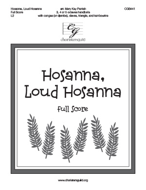 Hosanna, Loud Hosanna (Full Score)