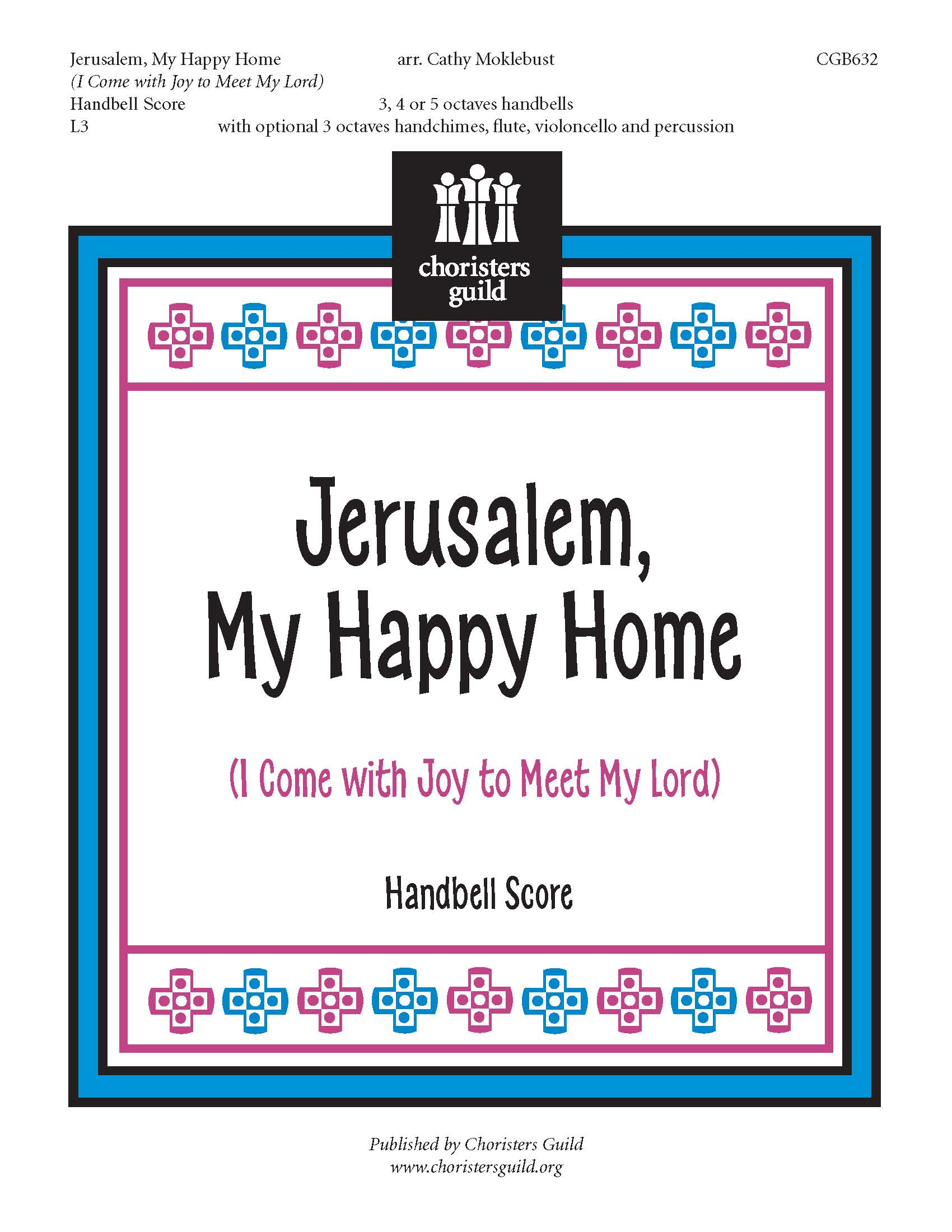 Jerusalem, My Happy Home Handbell Score