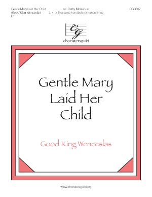 Gentle Mary Laid Her Child (3, 4 or 5 octaves)