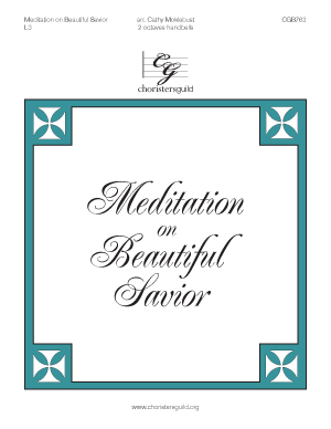 Meditation on Beautiful Savior (2 octaves)