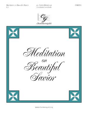Meditation on Beautiful Savior (2 octaves)