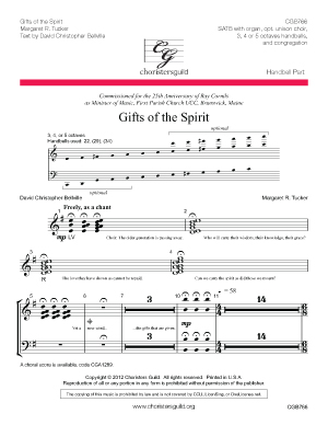 Gifts of the Spirit Handbell Score