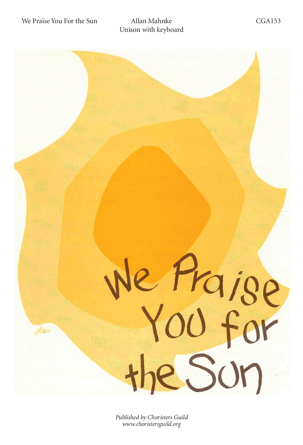 We Praise You for the Sun