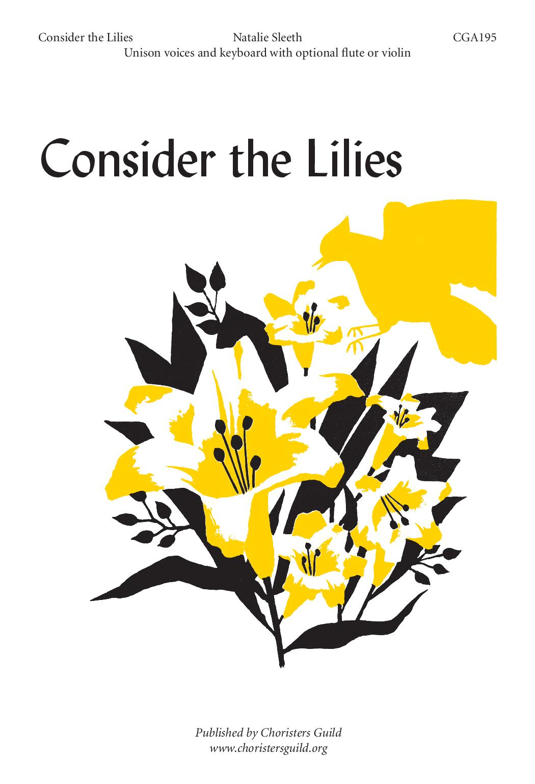 Consider the Lilies Unison
