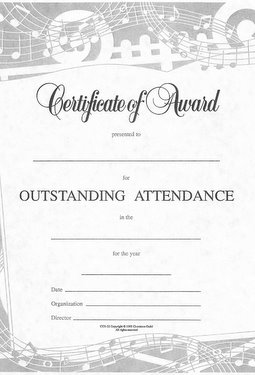 Outstanding Attendance Certificate