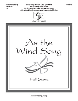 As the Wind Song - Full Score