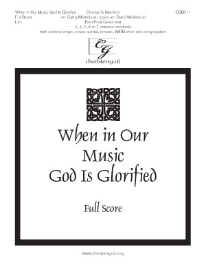 When in Our Music God Is Glorified - Full Score