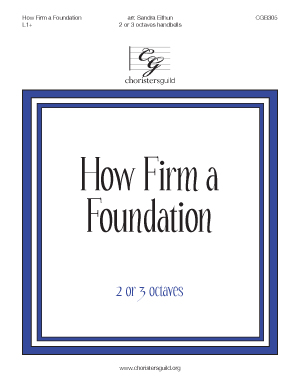 How Firm a Foundation (2 or 3 octaves)