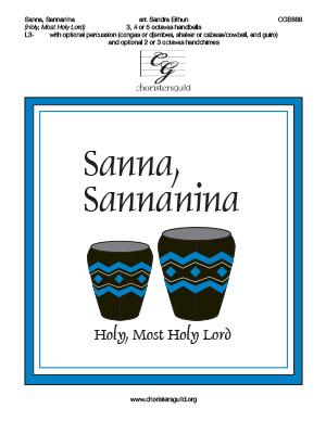 Sanna, Sannanina (Holy, Most Holy Lord) (3, 4 or 5 octaves)