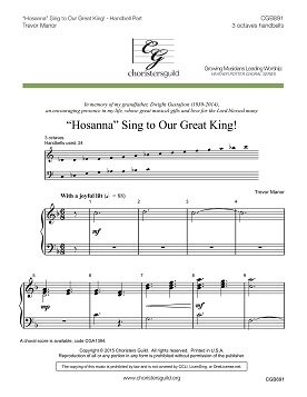 """Hosanna"" Sing to Our Great King HB Part"
