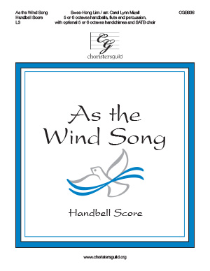 As the Wind Song - Handbell Score