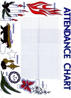 Seasons of the Church Year Attendance Chart