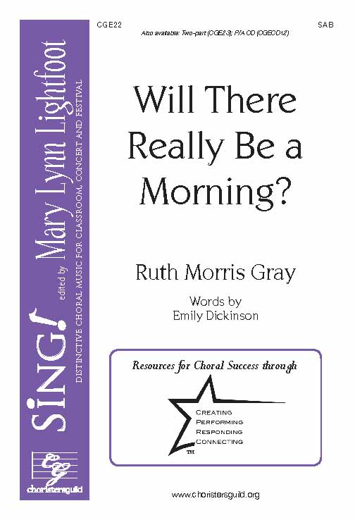 Will There Really Be A Morning? (SAB)