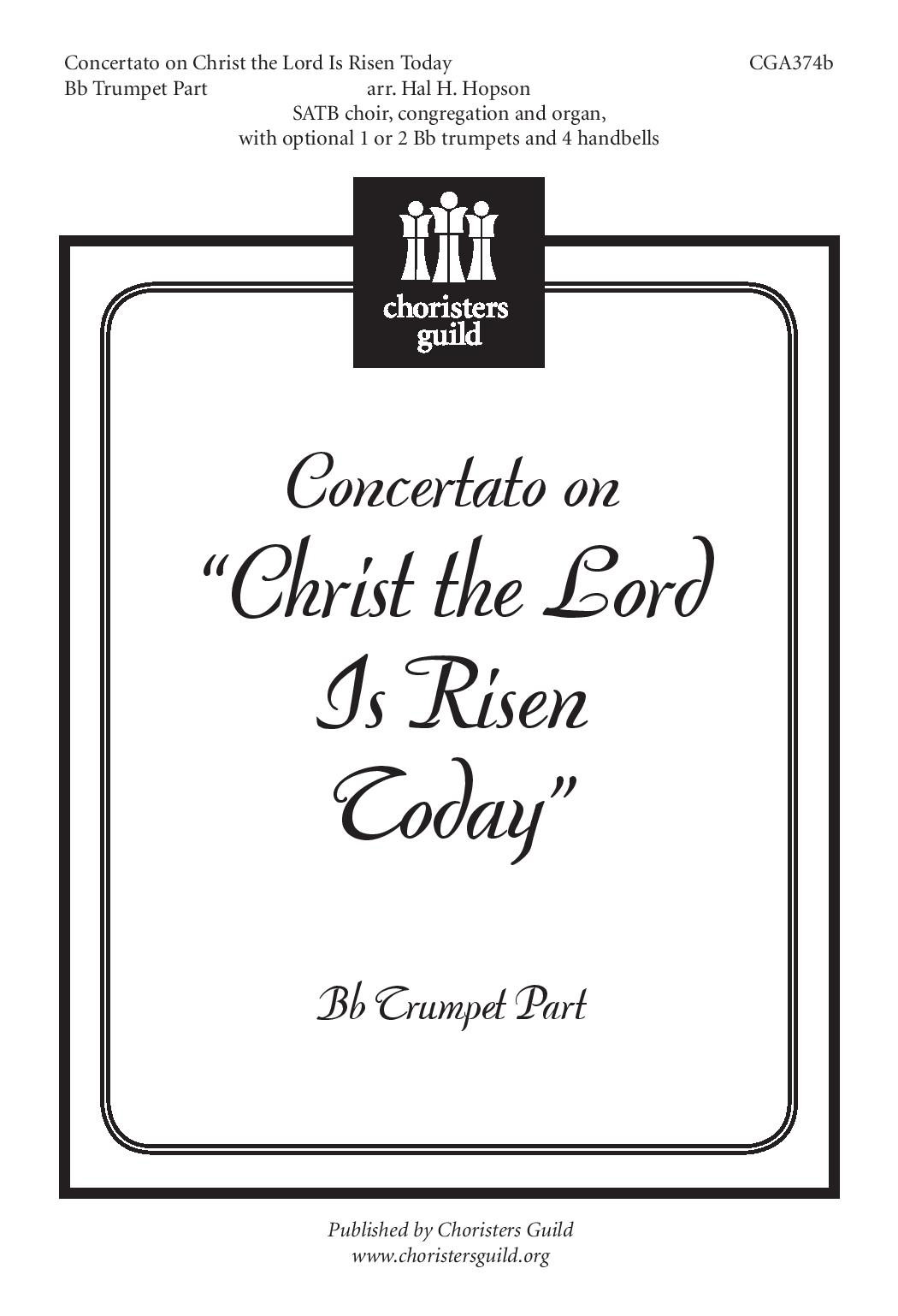 Concertato on 'Christ the Lord is Risen Today' Trumpet Part