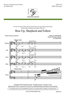 Rise Up, Shepherd and Follow (SATB)