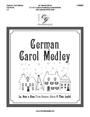 German Carol Medley - Full Score