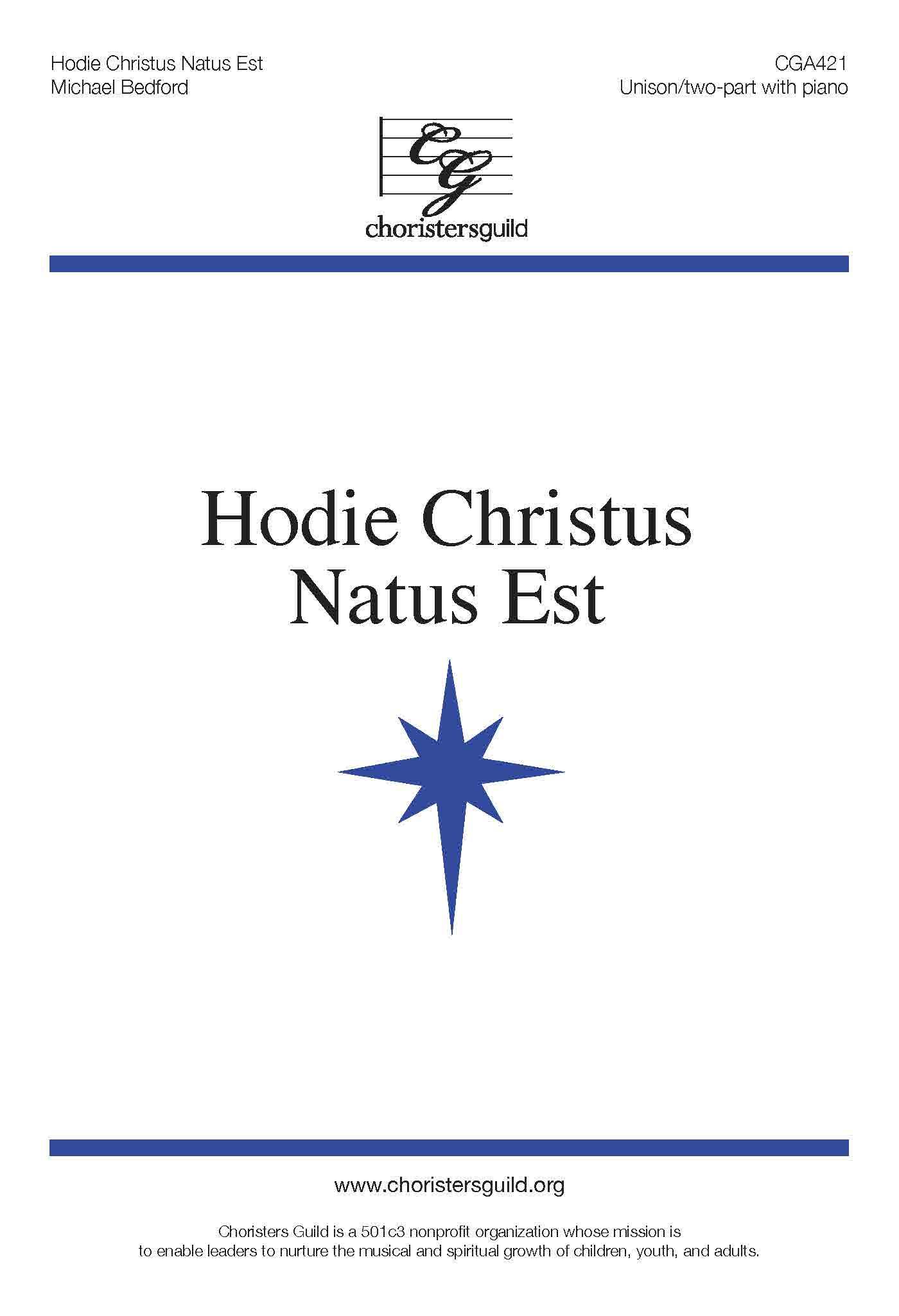 Hodie Christus Natus Est Unison 2-Part