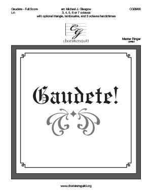 Gaudete! - Full Score