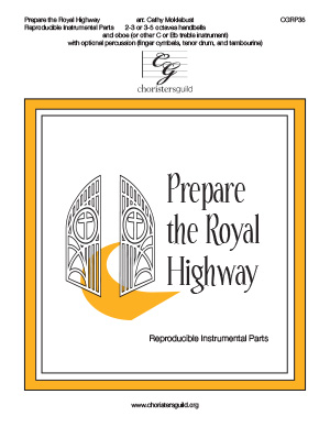 Prepare the Royal Highway - Reproducible Instrumental Parts