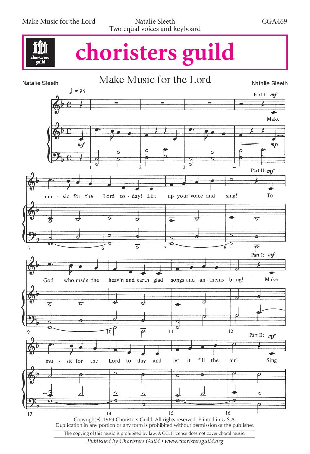 Make Music for the Lord