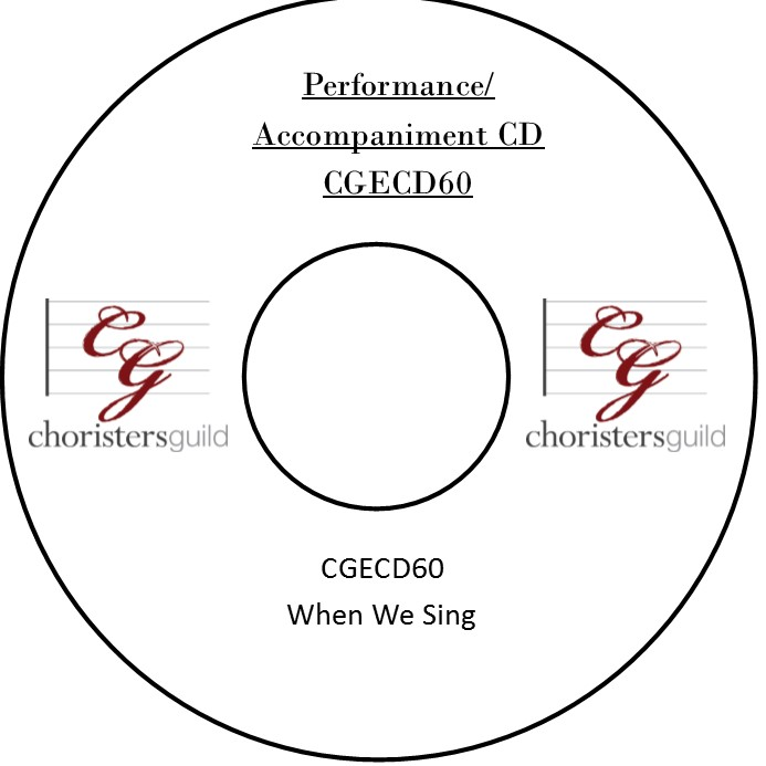 When We Sing (Performance/Accompaniment CD)